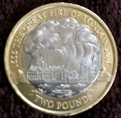 Rare 2 pound coin great fire of london