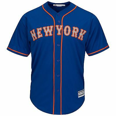 MLB Baseball Trikot NEW YORK NY METS blau Home blue Cool base Majestic Jersey