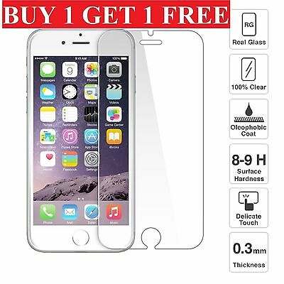 100% Genuine Tempered Glass Screen Protector Protection For Apple iPhone 6S -NEW