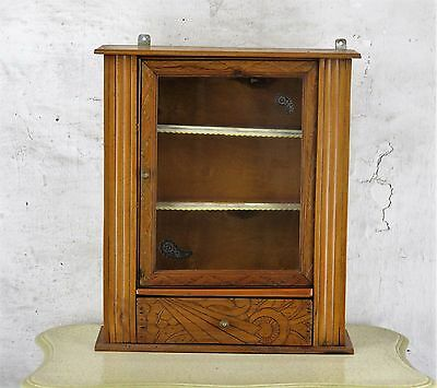 French Vintage Wooden Wall Kitchen Bathroom Apothecary Cabinet Display  Ornate