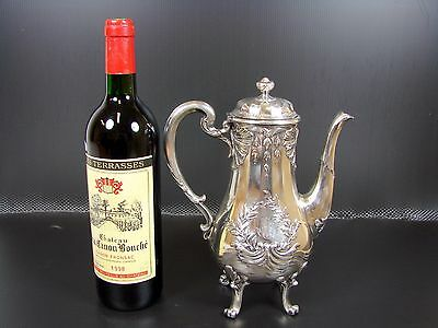 ANTIQUE CHISTOFLE GALLIA METAL SILVER PLATED COFFEE TEA POT LOUIS XVI 1900's