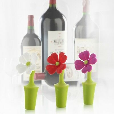 Clover Flower Shape Silicone Vacuum Sealed Champagne Drinks Wine Bottle Stopper