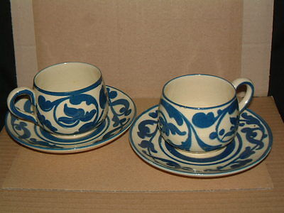 Beautiful Pair Of Vintage Aller Vale Cups And Saucers - Sandringham Pattern
