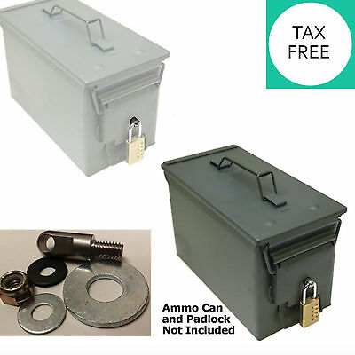 Locking Hardware for Ammo Can 20 to 50 Cal Steel Box Case Ammunition Container