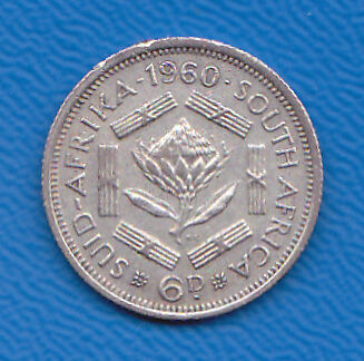 South Africa 1960  6d   Collectable.