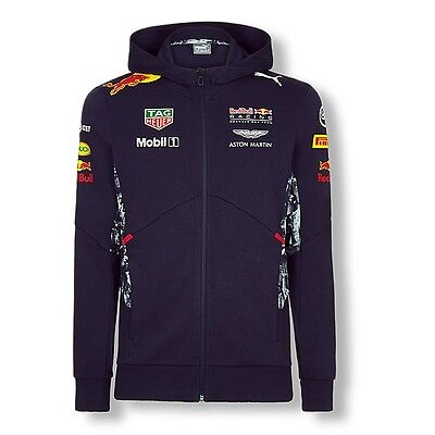 2017 OFFICIAL F1 Red Bull Racing Mens Team Hooded Sweat Jacket Hoody – NEW