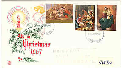 1967 Christmas Stuart fdc Nottingham First Day of issue cancel