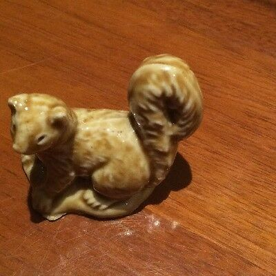 Wade Whimsy Brown Stoat Mini Rare Collectible Made England