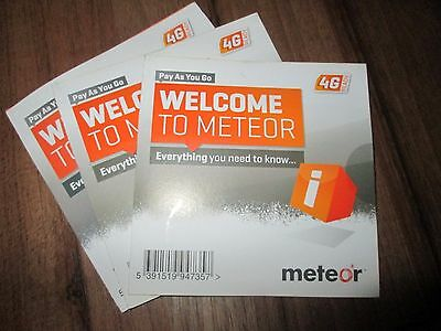 METEOR Ireland  Broadband 4G SIM, 50Gb internet data valid 6 months for €30