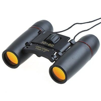 FirstOneOut 30x60 Foldable Compact Binoculars- Bonus Case and Cleaning Wipe