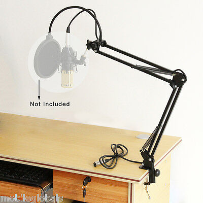 Broadcast Studio Microphone Mic Suspension Boom Scissor Arm Stand