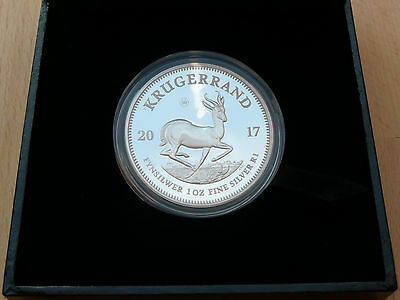 1oz PROOF SILVER KRUGERRAND 2017 LIMITED BOXED NUMBERED CERTIFICATE 00043