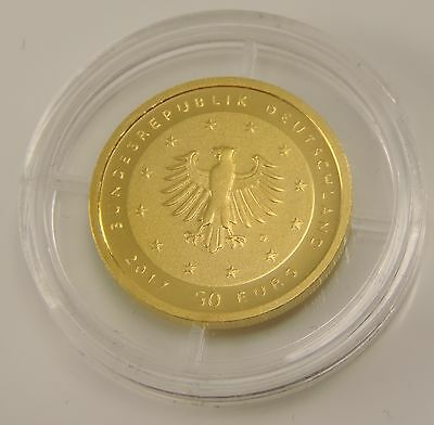 "Deutschland 50 Euro 2017 ST Lutherrose ""D"" Reformation Martin Luther Goldmünze"