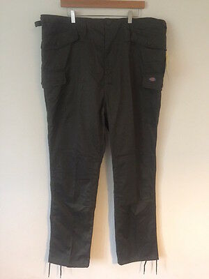 Dickies Mens Work Trousers Combat Cargo Pants Knee Pad Pockets Olive 42""