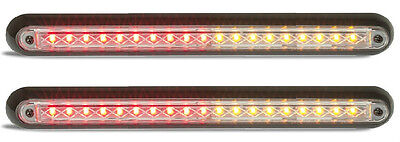 Trailer 2 X Stop/tail/indicator Lamps 380 Series 12 Volt Led Autolamps Quality