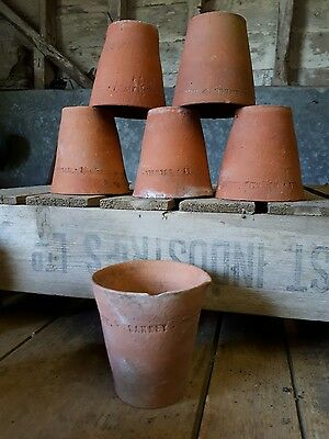 6 Sankey Bulwell Terracotta  Plant Pots Hand Thrown Vintage Antique Rustic 4""