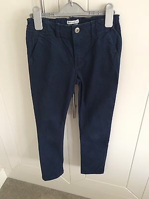 Boys Skinny Fit navy Chinos From H&M Age 9-10