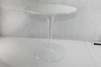 Kartell 8600e5 Side Table Tip Top White Shiny 14