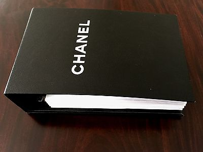 Rare Authentic Chanel Swatch Book Original Fabric Samples Paris Fashion Vogue