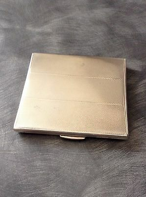 Lovely Solid Silver Hallmarked Cigarette Case Birmingham 1933