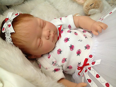 """  Summer "" 18  Inch Beautiful Sleeping Reborn Baby Girl Magnetic Dummy"
