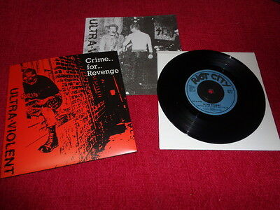 "Ultra-Violent ‎– Crime... For... Revenge 7"" Punk Oi! Skinhead NEW"