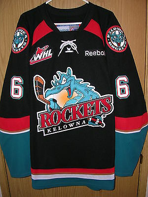 Game Worn / Used 2012-2013 Kelowna Rockets Jersey.