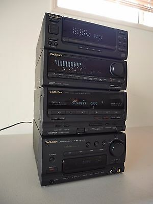 TECHNICS Mini HiFi System Separate Components Amp,Double Tape,Equalizer,CD,Tuner