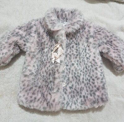 Baby Baby Jacket Girl size 00 3-6 months *As New* pink grey