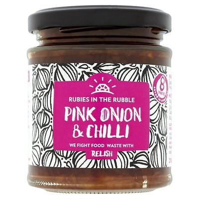 Rubies in the Rubble Pink Onion & Chilli Relish 210g