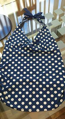 Maternity Tankini Top. Swimwear. Navy, White Spotted Size 10 Mothercare New