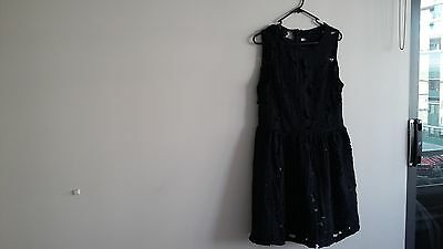 Black Missguided Lace Dress Size 14