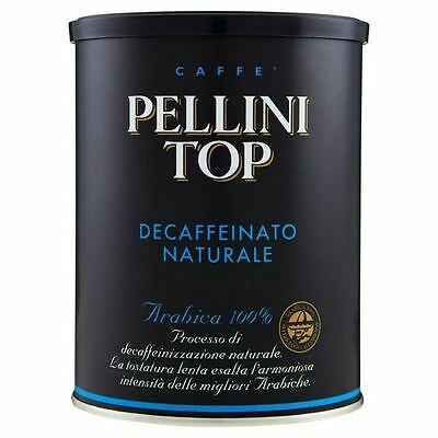Pellini Top Arabica 100% Decaffeinated Ground Coffee 250g