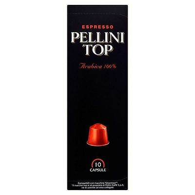 Pellini Top Arabica 100% Nespresso Compatible Coffee Capsules 10 per pack