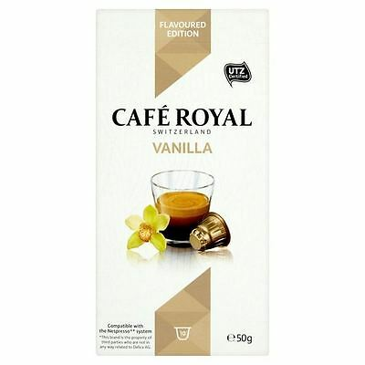 Cafe Royal Vanilla Flavoured Nespresso Compatible Coffee Pods 10 per pack