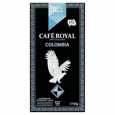 Cafe Royal Colombia Single Origin Nespresso Compatible Coffee Pods 10 per pack
