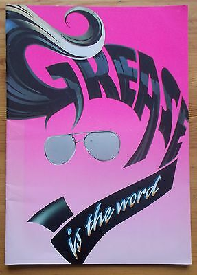 Grease is the word photo programme Dominion Theatre August 1993 edition