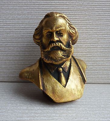 ORIGINAL Germany communist KARL MARX bust statue H=9 cm
