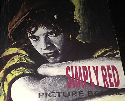 Simply Red Picture Book Card Sleeve CD Rare 1985 Mick Hucknall Come To My Aid