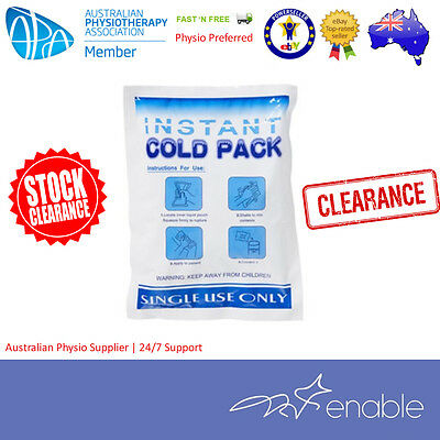 CLEARANCE! Instant Cold Pack | Ice Pack  x 10 Units LARGE 20 x 15 cm $3 each!