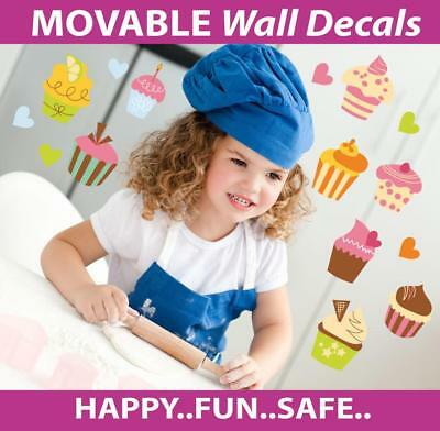 Cupcakes Movable Wall Stickers