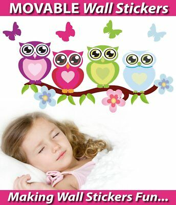 Big Eyes Owls Movable Wall Stickers