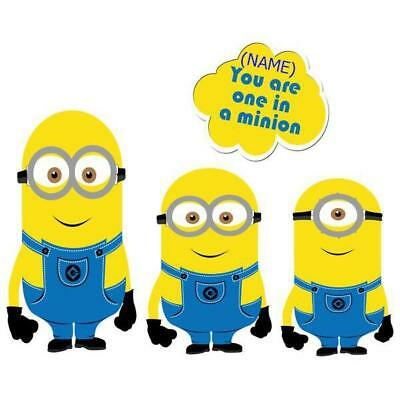 Personalized Minions Movable Wall Stickers