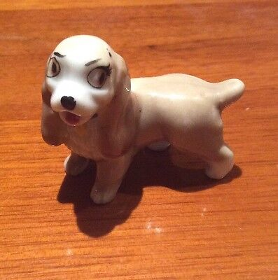 Wade Whimsies Lady Dog Figure Disney's Lady & The Tramp Spaniel