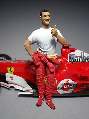 Figurine  1/18  Michael  Schumacher  Vroom  Unpainted  For  Minichamps  Mattel