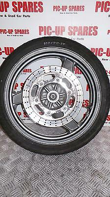 1996 yr Kawasaki gpz 500s front  Wheel with single disc and tyre   0000328444