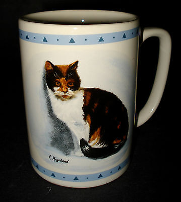 CALICO CAT KITTEN Ceramic COFFEE MUG TEA CUP Papel R. Maystead Portraits History