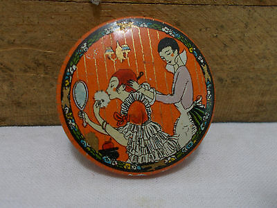 VINTAGE THREE FLOWERS FACE POWDER TIN ~SAMPLE SIZE~Richard Hudnut New York USA