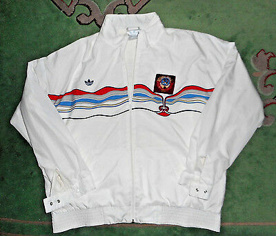 Rare 70s  80s Adidas team of the USSR nylon tracksuit jacket pants lined size 56