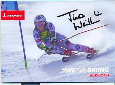 Ski ALPIN: Tina WEIRATHER (FLI) orig.Autogramm AK 2./WM 2017  ++TOP++